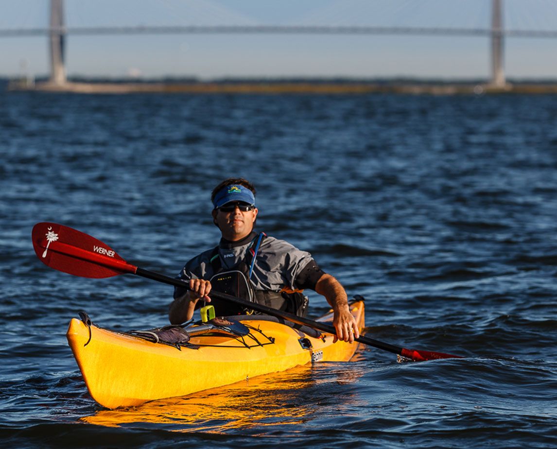 Paddling in Charleston Harbor