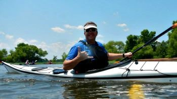 Image of Jeff Atkins in a kayak