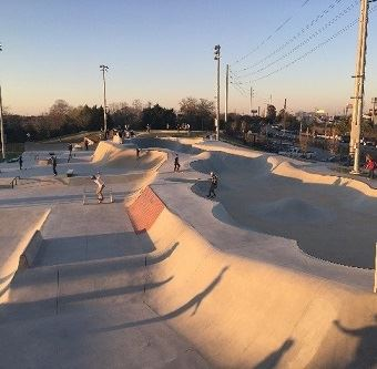 skatepark overview sunset sq