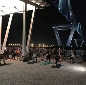 starlight yoga at the mount pleasant pier