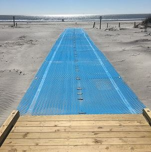 Accessible beach path