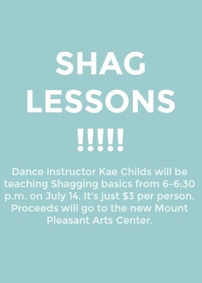 Dance instructor Kae Childs will be teaching Shagging basics from 6-6:30 p.m. on July 14. It's ju