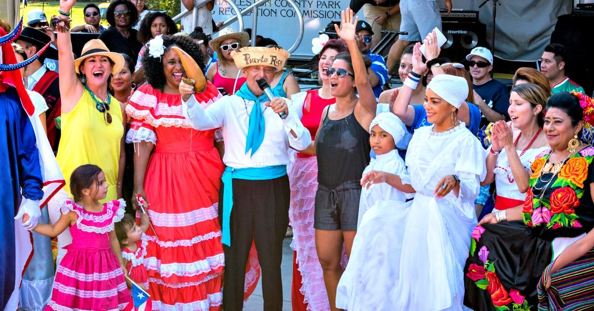 Image of dancers and singers at the Latin American Festival