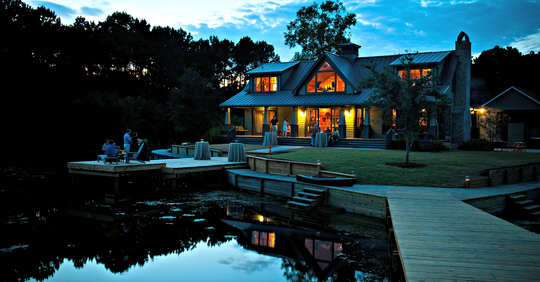 The Lake House at Bulow at Sunset