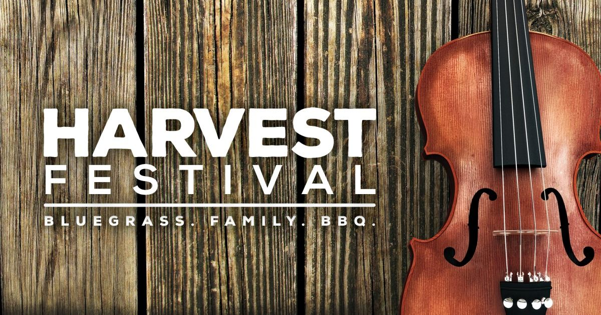 Harvest Festival image of a violin on a wood background
