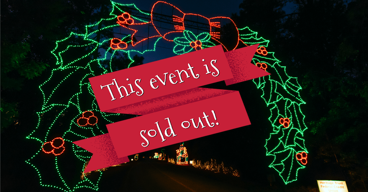 Holiday Festival of Lights Fun Run & Walk is SOLD OUT.