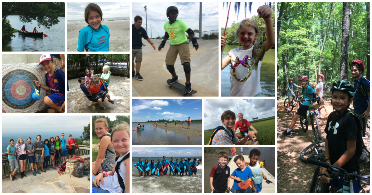 collage of many Summer Camp images