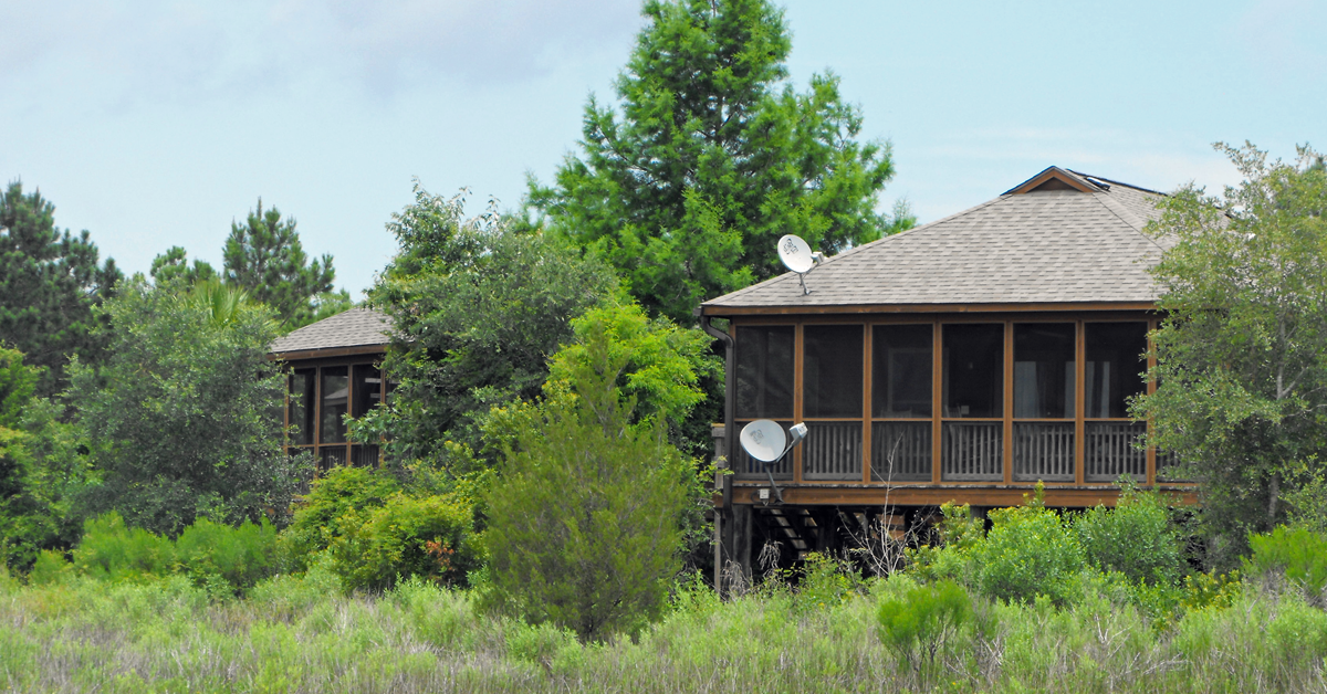 One of the 10 cottages offered for rent at James Island County Park