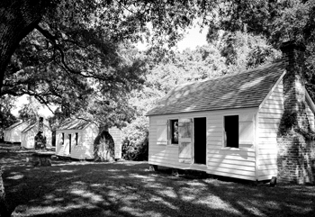 Enslaved homes at McLeod Plantation Historic Site