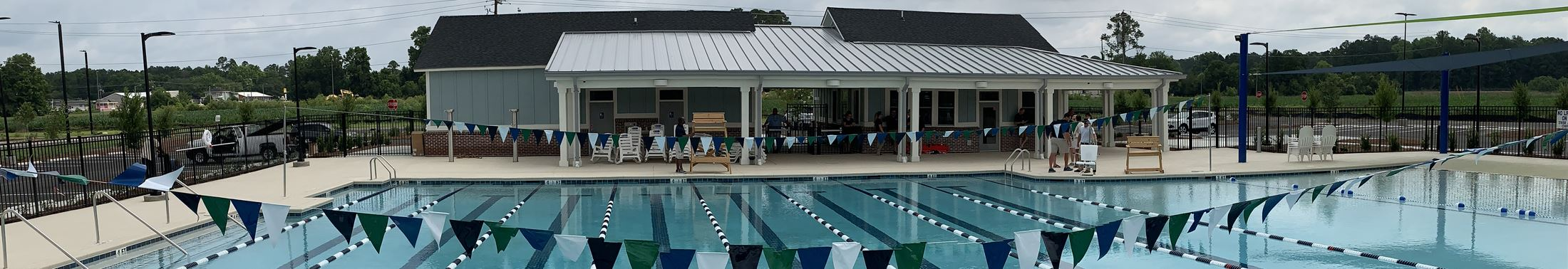 View of the empty pool at the West County Aquatic Center