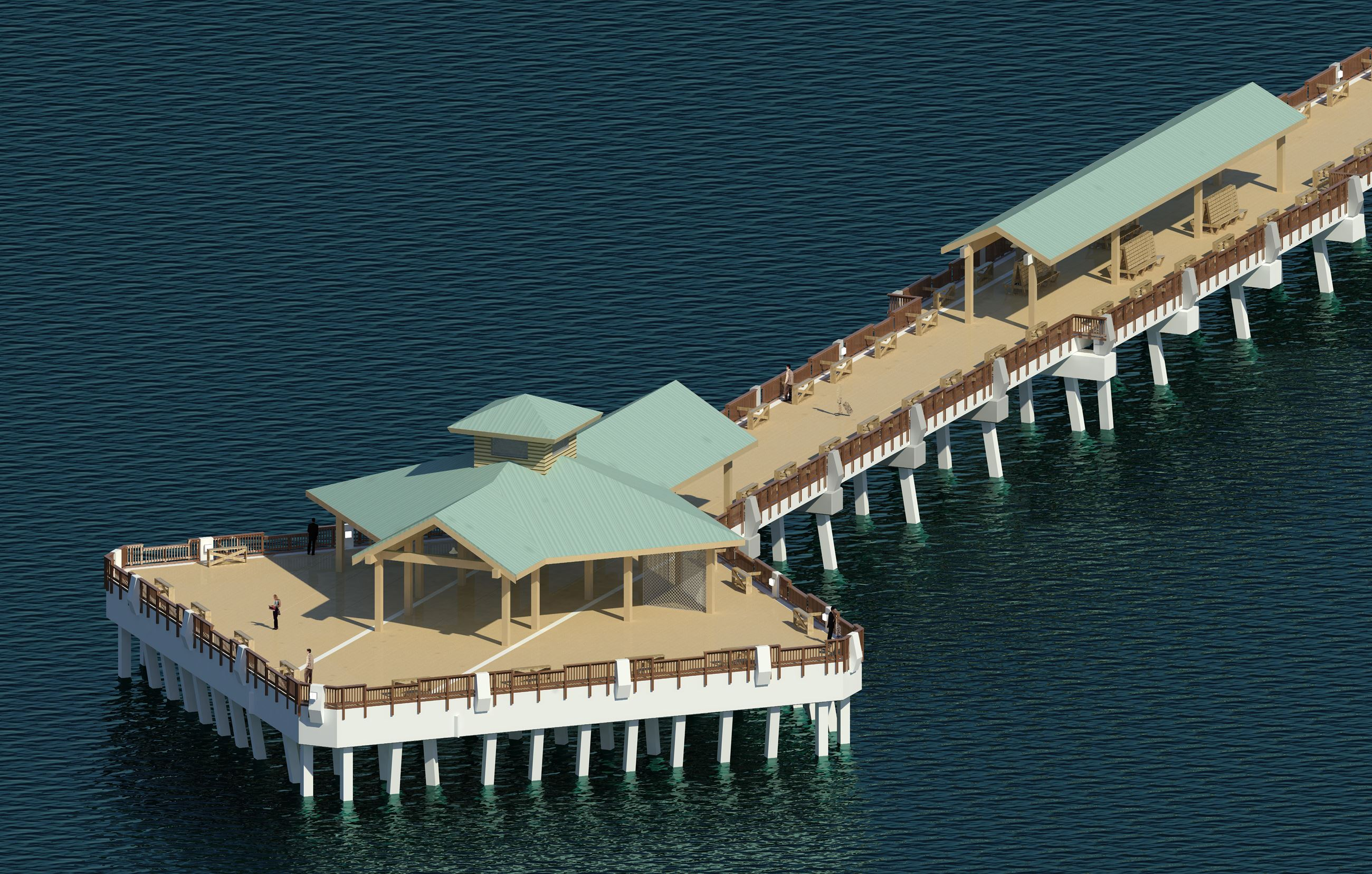 Digital rendering of the new Folly Beach Pier