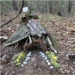 Image of a fairy house built at a Charleston County Park