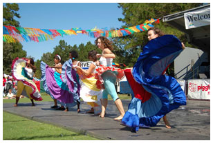 Dancing at the Latin American Festival