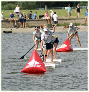 Racing on Stand Up Paddleboards