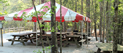 Lakeside Canopy tent at Wannamaker County Park