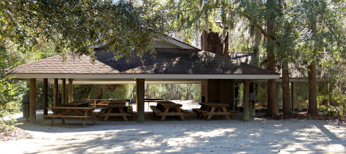 Big Oak Shelter at Palmetto Islands County Park
