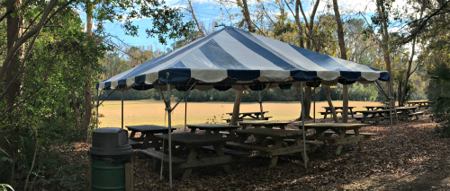 Meadow Tent at Palmetto Islands County Park