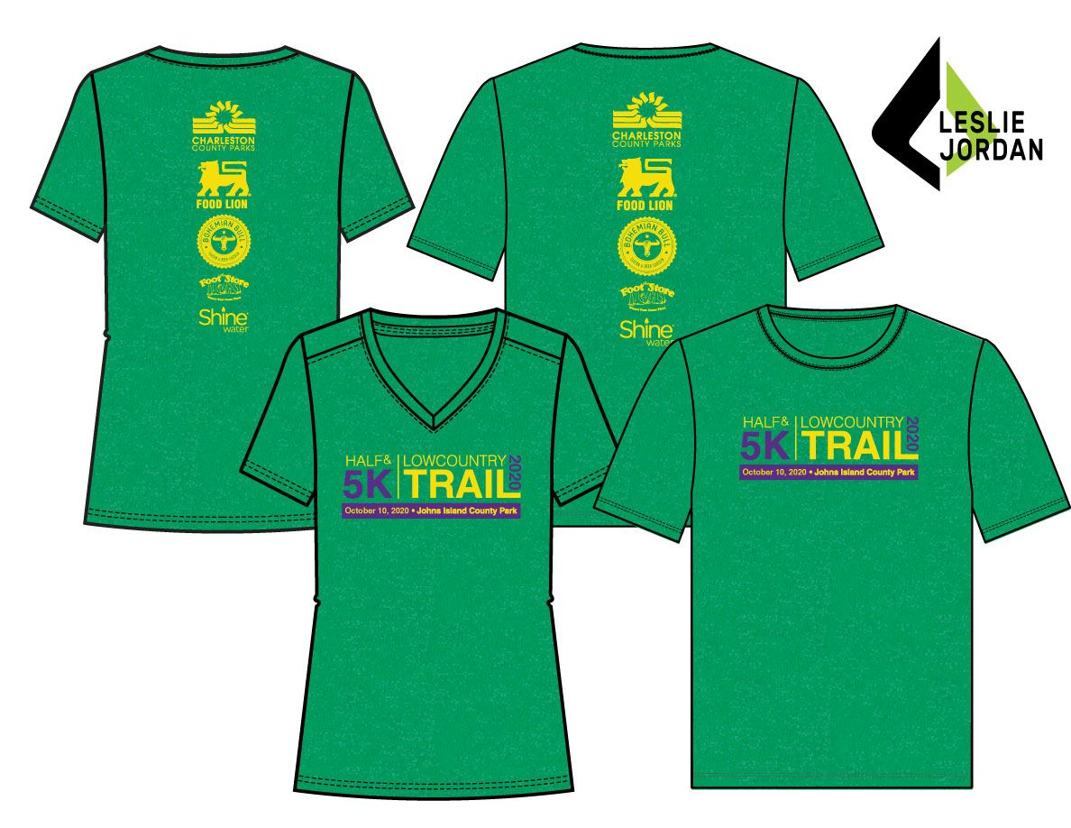 Digital rendering of the t-shirt race participants receive from the Lowcountry Trail Half Marathon