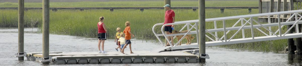 Dock at Palmetto Islands County Park