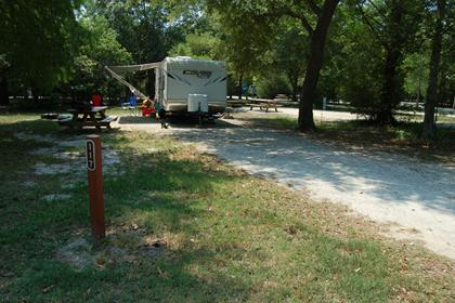 Image of Site #117 at the Campground at James Island County Park