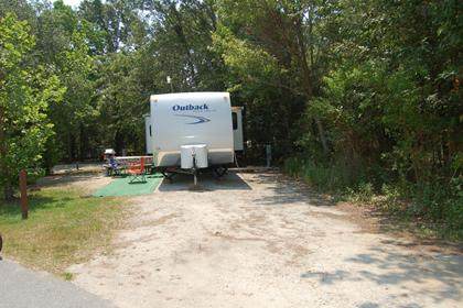 Image of Site #121 at the Campground at James Island County Park