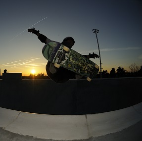 Image of skateboarder at SK8 Charleston