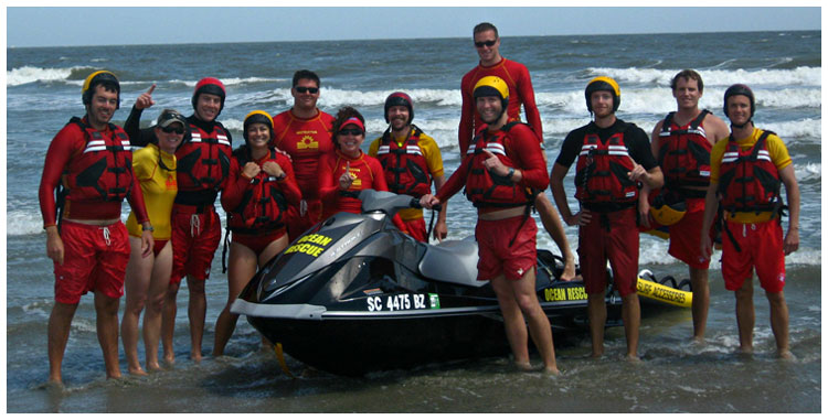 Ocean Rescue Lifeguards at Folly Beach