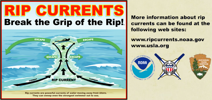 Image of Rip Current diagram courtesy of the USLA