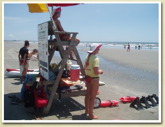 Image of beach park lifeguards