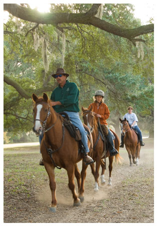 Image of trail riders at Mullet Hall