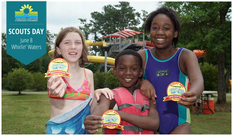 Scouts Day at Whirlin Waters Adventure Waterpark